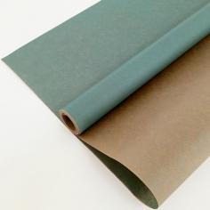 Крафт-бумага вержированная Лазурно-голубая / рулон
