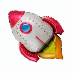 Шар Фигура, Ракета, Красная (в упаковке)