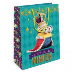 Пакет подарочный Миньон-король