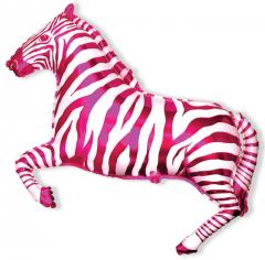 Шар Мини-фигура Зебра (фуксия) / Zebra (в упаковке)
