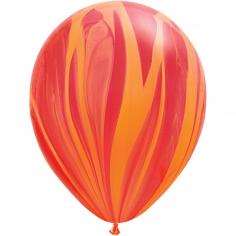 Шар Супер Агат, Красный-Оранжевый / Red Orange