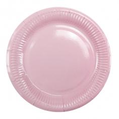 Тарелки бумажные ламинированные Розовый / Pink