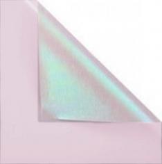 Пленка матовая двухсторонняя с мерцанием Розовая