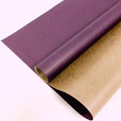 Крафт-бумага вержированная Сиреневая / рулон