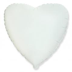 Шар Сердце, Белый / White (в упаковке)
