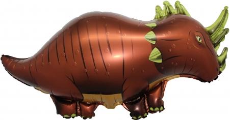 Шар Фигура, Динозавр Трицератопс, Коричневый (в упаковке)