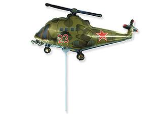 Шар Мини-фигура Вертолёт, Хаки / Helicopter (в упаковке)