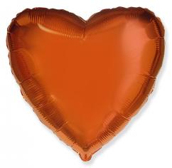 Шар Сердце, Оранжевый / Orange (в упаковке)