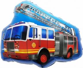 Шар Фигура, Пожарная машина с лестницей (в упаковке)