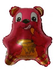 Шар Мини-фигура Медвежонок с мёдом (фуксия) / Bear (в упаковке)