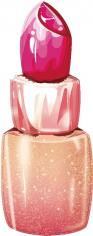 Шар Фигура Губная помада, Розовый (в упаковке)