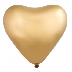 Сердце Золото, Хром Сатин / Gold Sateen