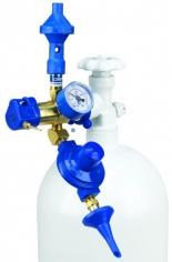 Насадка для баллона Precision Plus оснащенная клапаном для надувания 60/40 (гелий/воздух) / 60/40 He
