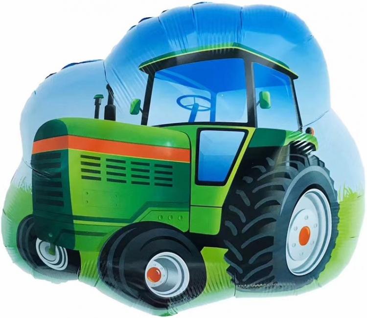 Шар Фигура, Трактор, Зеленый (в упаковке)