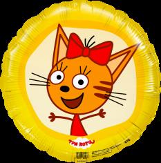 Шар Круг, Три Кота, Карамелька (в упаковке)