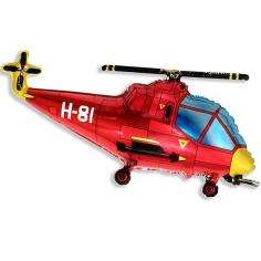 Шар Мини-фигура Вертолёт, Красный / Helicopter (в упаковке)