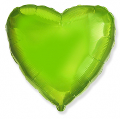 Шар Сердце, Лайм / Green Lime (в упаковке)
