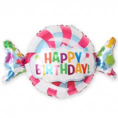 Шар Фигура Конфета, С Днем Рождения (в упаковке)
