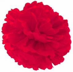 Бумажный помпон Красный