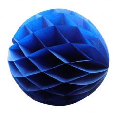 Бумажный шар-соты Темно-синий
