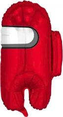 Шар Фигура, Космонавтик, Красный (в упаковке)