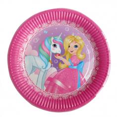 Тарелки одноразовые Принцесса Мия и единорог