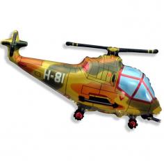 Шар Мини-фигура Вертолёт военный / Helicopter military (в упаковке)