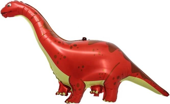 Шар Фигура, Динозавр Диплодок, Красный (в упаковке)