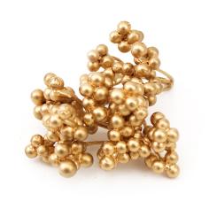 Гроздья ягод искусственные Золотые