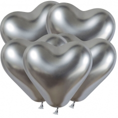 Сердце Хром Серебро / / Shiny Silver