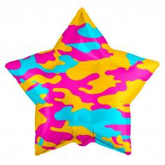 Шар Звезда, Камуфляж гламурный (в упаковке)