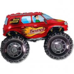 Шар Мини-фигура Большой внедорожник, Красный / Big wheel (в упаковке)