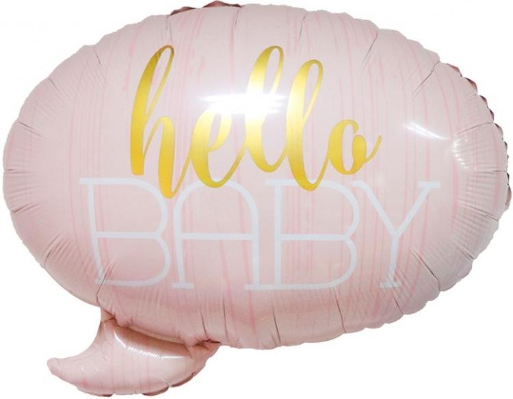 Шар Фигура, С Рождением Малышки!, Розовый (в упаковке)