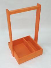 Декоративные ящики Макаронс Браш оранжевый