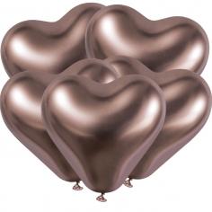 Сердце Хром Розовое золото / Shiny Rosegold