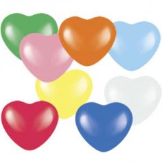 Сердце 8 цветов Ассорти, Пастель / Assorted