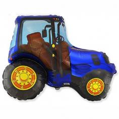 Шар фигура, Трактор (синий) / Tractor (в упаковке)