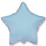 Шар Звезда, Светло-Голубой / blue baby (в упаковке)