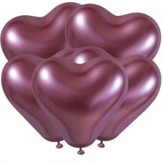 Сердце Хром Розовый / Shiny Pink