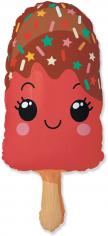 Шар Фигура Счастливое эскимо, Красный (в упаковке)