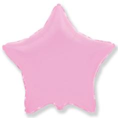 Шар Звезда, Розовый / Baby Pink (в упаковке)