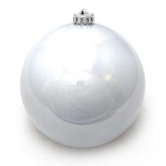 Новогодний шар Серебряный (перламутровый)