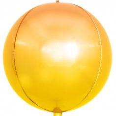 Шар Сфера 3D, Оранжевый, Градиент (в упаковке)