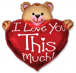 Шар Фигура, Мишка Я тебя люблю / Bear Love (в упаковке)