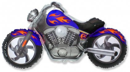 Шар Мини-фигура Байк, Синий / CUSTOM MOTO (в упаковке)