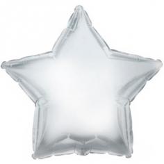 Шар Звезда Платиновое Серебро / Silver