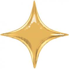 Шар Звезда, 4х-конечная Золото