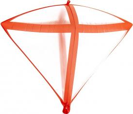 Шар 3D Алмаз Красные грани, Прозрачный (в упаковке)
