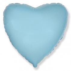 Шар Сердце, Светло-голубой / Baby blue (в упаковке)