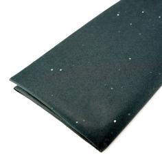 Бумага упаковочная тишью Черная с блестками / листы
